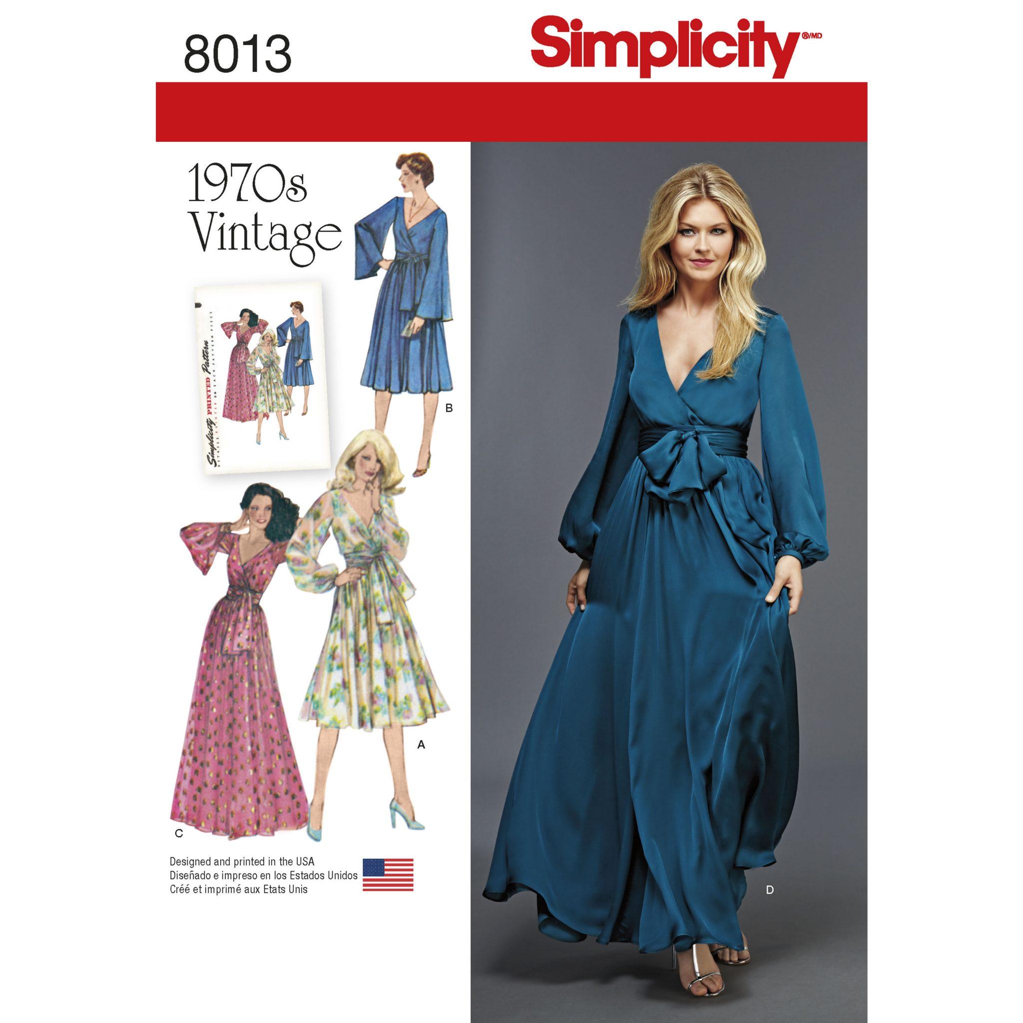 vintage seventies dress patterns