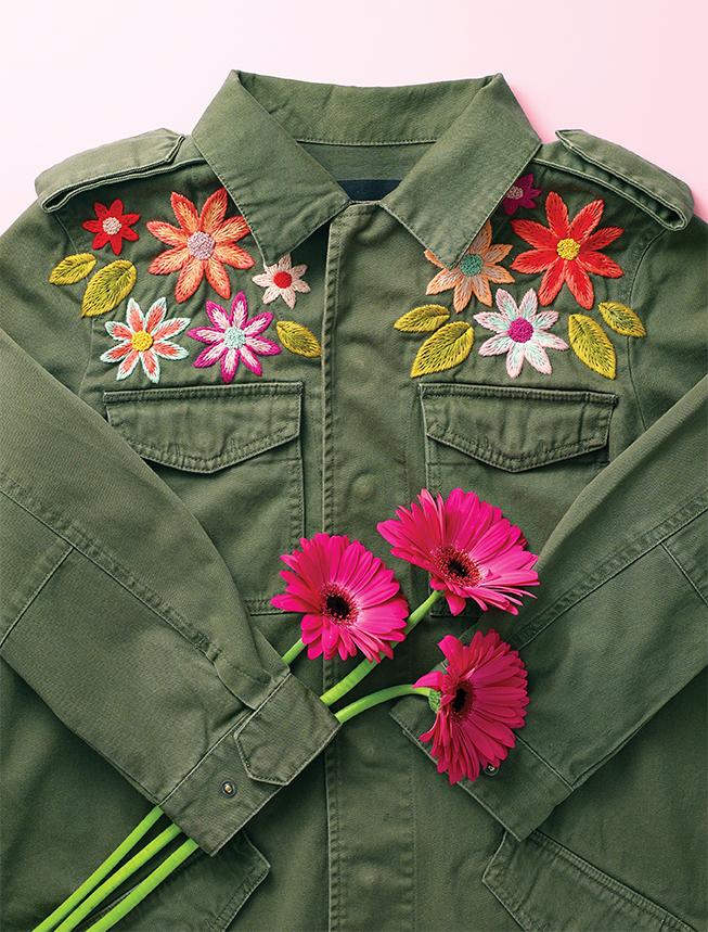 jacket embroidery pattern