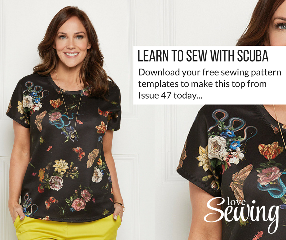 sewing with scuba t-shirt pattern