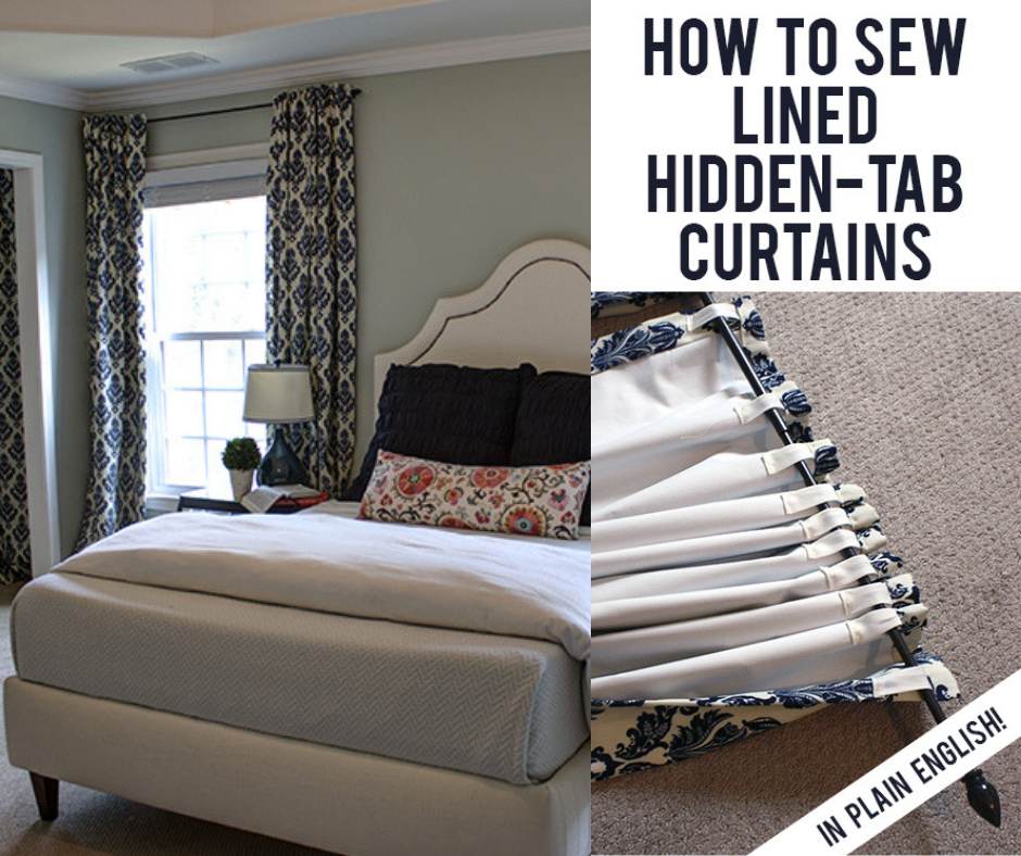 how to sew hidden tab curtains