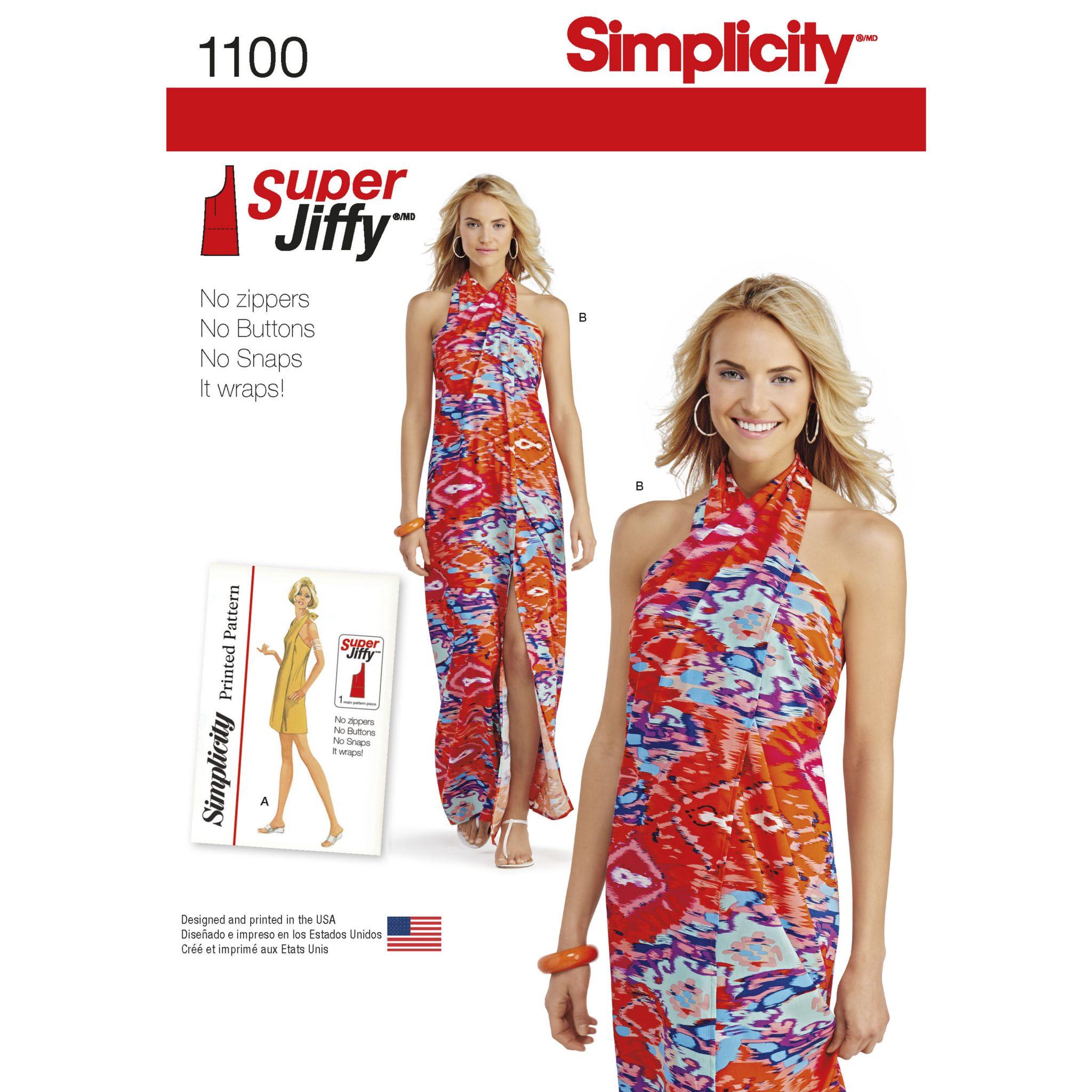 70s style dress pattern